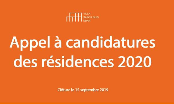 Appel à candidature Villa Saint-Louis Ndar