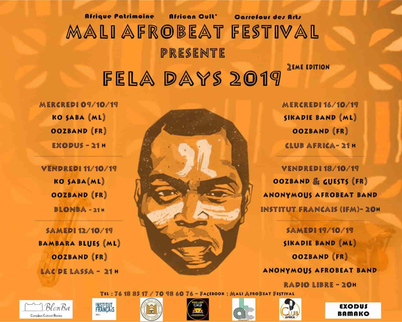 Fela days : Programme